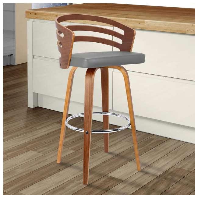 3 x LCJYBAGRWA30 Armen Living Jayden 30 Inch Mid Century Swivel Barstool Chair, Gray (3 Pack) 6