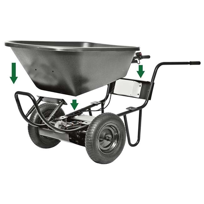 PAW-44019 Decko Powered Garden 24V Battery-Operated Wheelbarrow 2