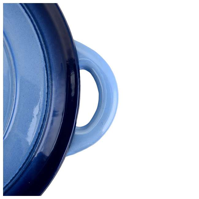 HAR112 Hamilton Beach 5.5-Quart Enameled Dutch Oven Pot, Blue (2 Pack) 3