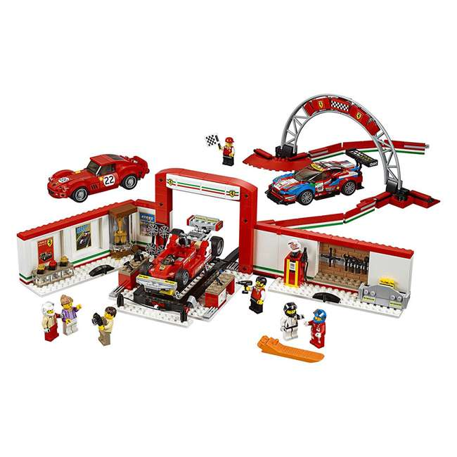 6212629 LEGO Speed Champions 841 Piece Ferrari Ultimate Garage Building Kit for Kids 1