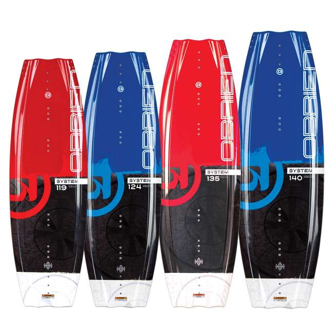 2180194-MW O'Brien System 135 Beginner Wakeboard Package with Clutch 4 to 8 Boot Bindings 3