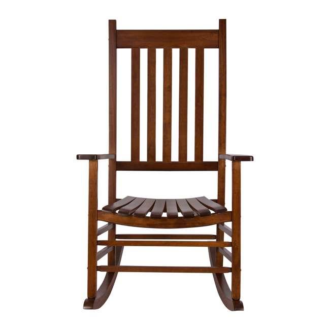 SHN-4332OA Shine Company Vermont Hardwood Outdoor Porch Patio Furniture Rocker Chair, Oak 2