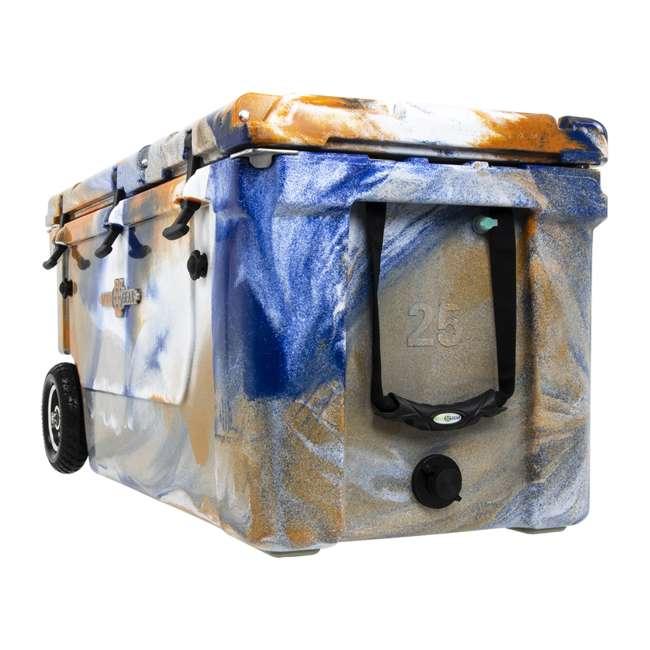 HC75-17ONW WYLD 75 Quart Pioneer Dual Compartment Insulated Cooler w/ Wheels, Blue/Orange 2