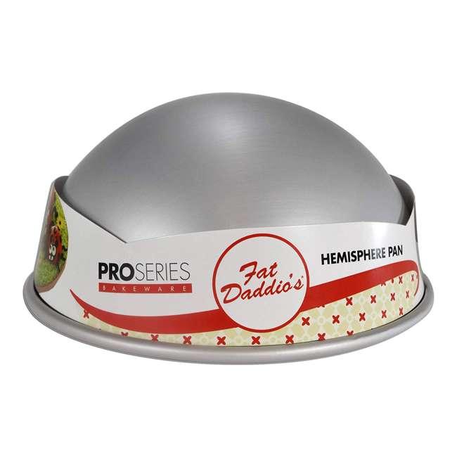 PHA-10 Fat Daddio's PHA-10 10 x 4.75 Inch Size Anodized Aluminum Hemisphere Baking Pan