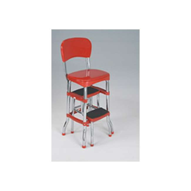 Cosco Retro Chair Amp Slide Out Step Stool Red 11120red1e