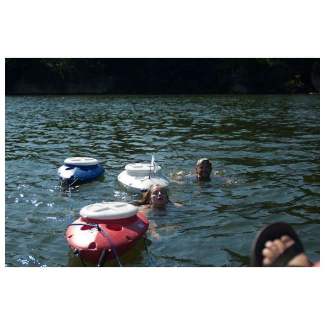 CK00227R-U-B CreekKooler Kayak or Canoe River Floating Beverage & Food Cooler, White (Used) 2