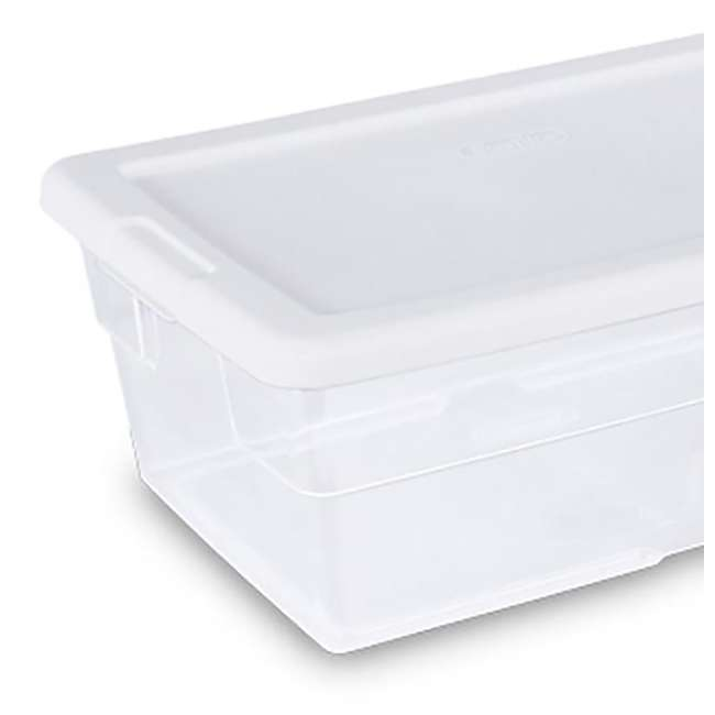 24 x 16428012 + 91824 Sterilite 6-Qt Box (24) Bundled with VELCRO® Brand Fastener Pads (200) 6