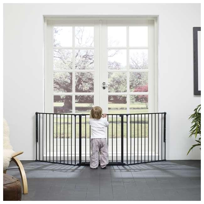 BBD-56226-10600 BabyDan Flex 35.4-87.8 Large Size Metal Safety Baby Gate & Room Divider, Black 2