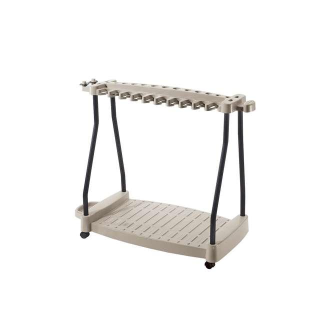 RTC1000 Suncast 150-Pound Capacity Garden Yard Cart Rolling Tool Rack (2 Pack) 1