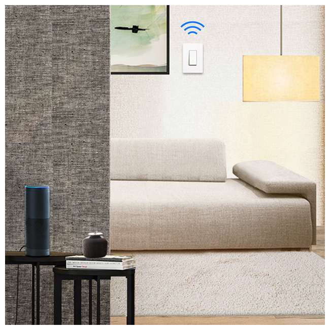 TPL-HS200-U-A TP-Link Smart White WiFi Light Switch Cover Compatible w/ Phone (Open Box) 2