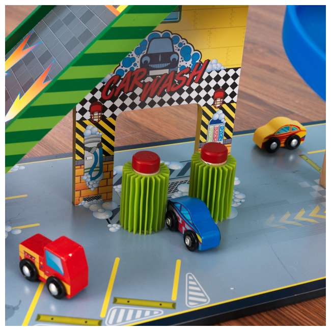 63267-U-A KidKraft Kids Mega Ramp Racing Set for Matchbox and Hotwheels Cars (Open Box) 9