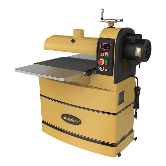 PWM-1792244 Powermatic PM2244 WoodWorking 1-3/4 HP Drum Sander with LED Control Panel, Tan