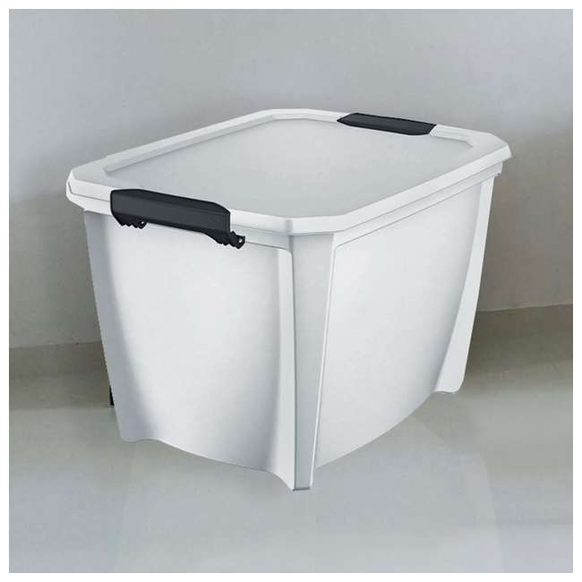 7 x T20GLWT Life Story White Latching Storage Tote, 20 Gallons (12 Pack) 4