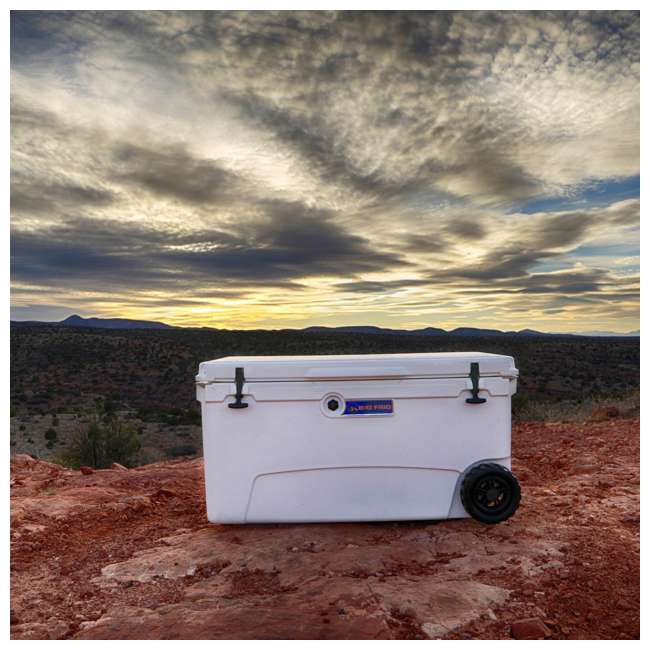 BFDB70WS-WH Big Frig Denali 70 Quart Insulated Wheeled Camp Cooler with Accessories, White 3