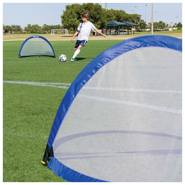 1-1-51853-DS Eastpoint Portable Twister 4 Foot Popup Soccer Goal Set 1