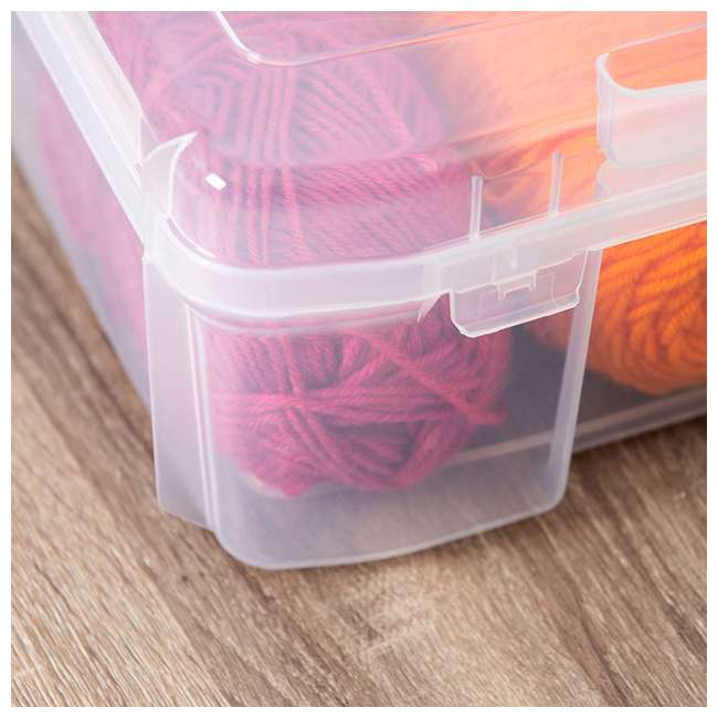 585122-4PK IRIS USA 12 x 12 Inch Hard Plastic Portable Clear Project Case for Paper, 4 Pack 4