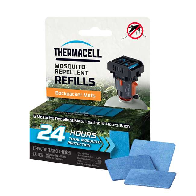 M24 Thermacell Backpacker Mosquito Repeller Mat-Only Refill, 24 Hours