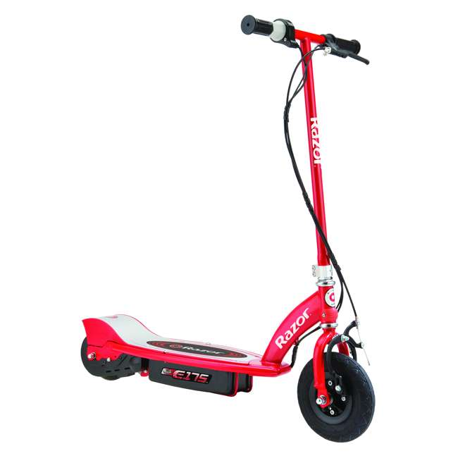 3 x 13111259 Razor E175 Kids Ride On 24V Motorized Battery Powered Scooter Toy, Red (3 Pack) 1