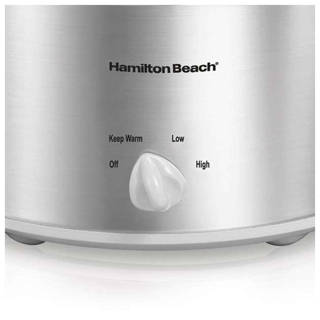 33140V + SLOWCOOKER175 Hamilton Beach Counter Top 4 Quart Oval Slow Cooker Pot & 175 Recipe Cookbook 3