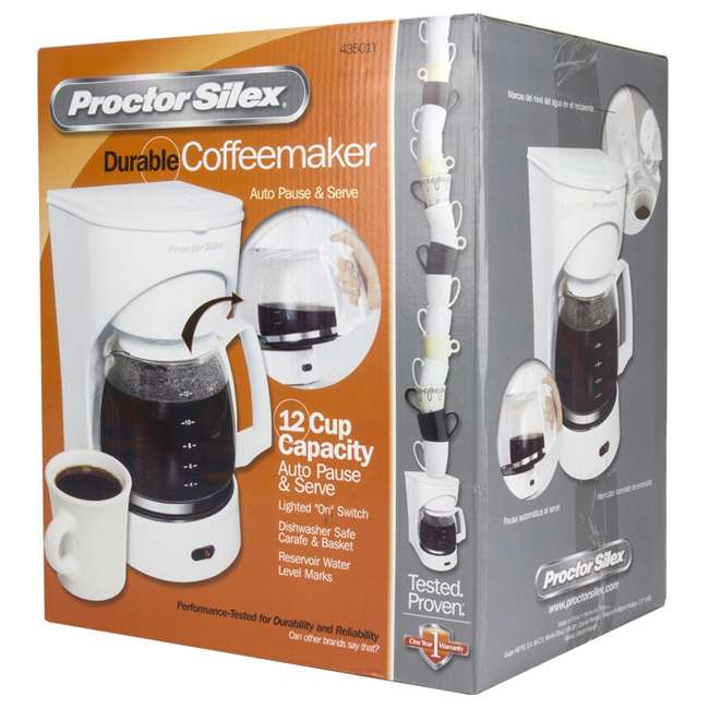 43501Y Proctor Silex 12-Cup Coffeemaker (White) | 43501Y 6