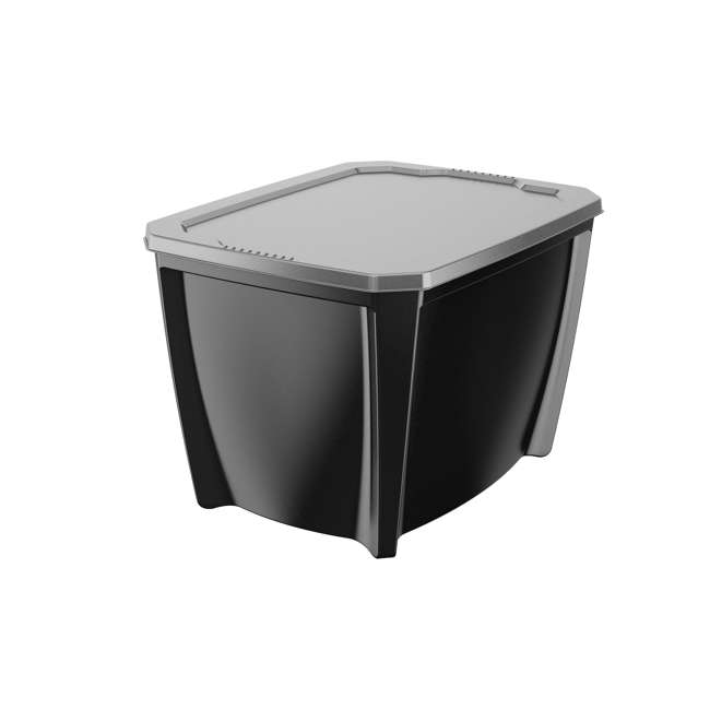 6 x T20GBSIVL Life Story 20-Gallon Stackable Storage Container, Black (6 Pack) 1