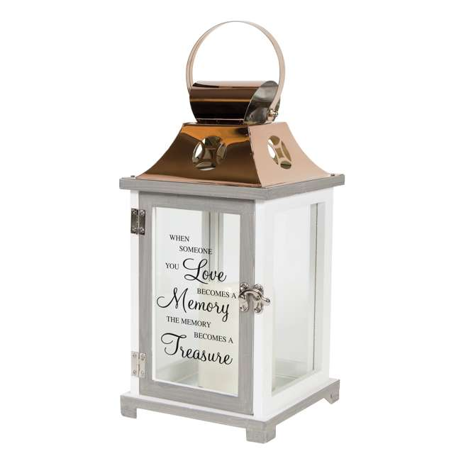 57436 Carson Home Accents A Memory Becomes a Treasure LED Candle Lantern