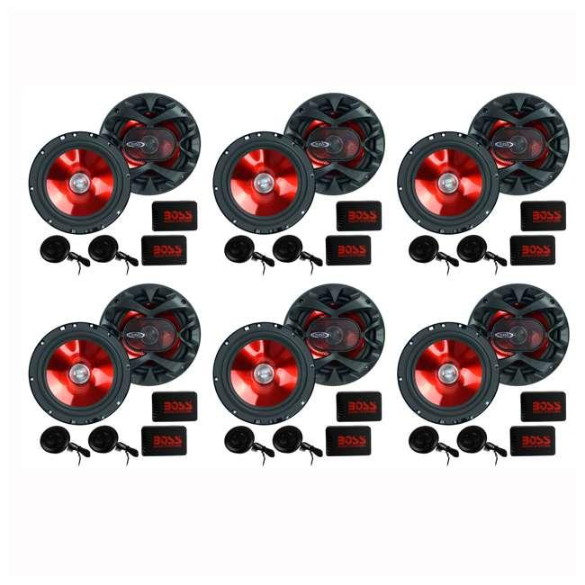 6 x CH6CK Boss 6.5-Inch 350 Watt Component Speaker Systems (6 Pack)