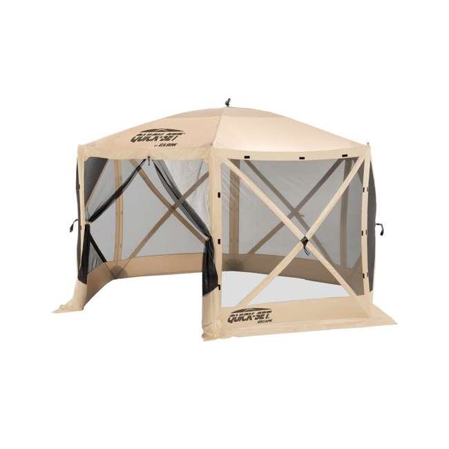 CLAM-ES-12817 + 2 x CLAM-WP-114245 Clam Quick Set Canopy Shelter + Wind & Sun Panels (6 pack) 1