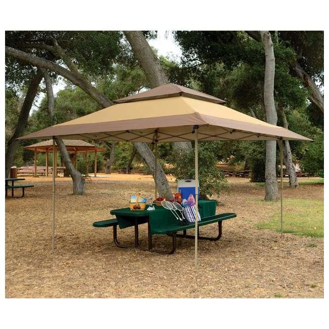 ZSB13GAZTB-U-A Z-Shade 13 x 13 Instant Canopy Outdoor Shelter Tan Brown (Open Box) (2 Pack) 1