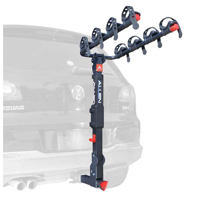 QR545-U-C Allen Sports 4 Bike 2 Inch Hitch Carrier Car Rack with Powder Coating(For Parts) 1
