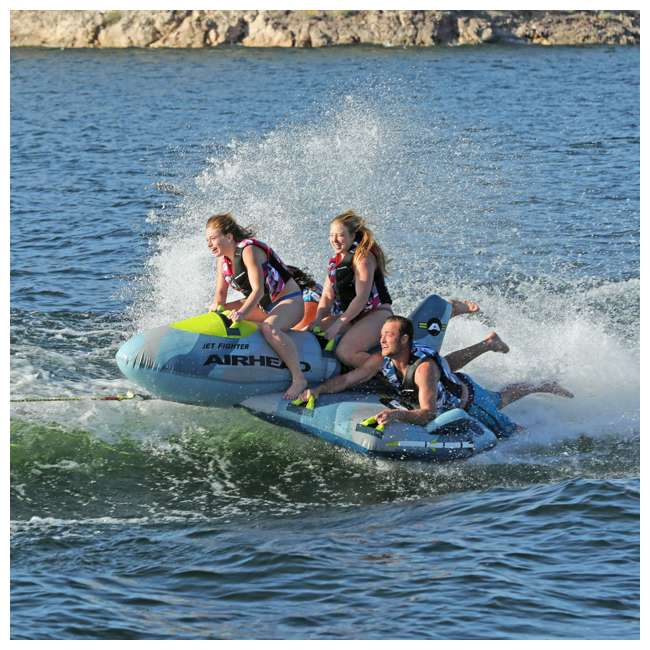 AHFJ-14 Airhead Jet Fighter Airplane 4 Person Inflatable Boat Towable Water Tube Raft 5