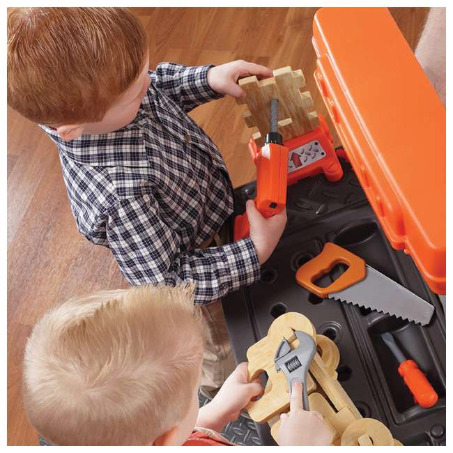 489499 Step2 Pretend Play Handyman Workbench, Orange 4