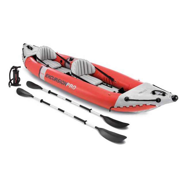 68309EP Intex Excursion Pro Inflatable 2-Person Kayak with Pump, Red