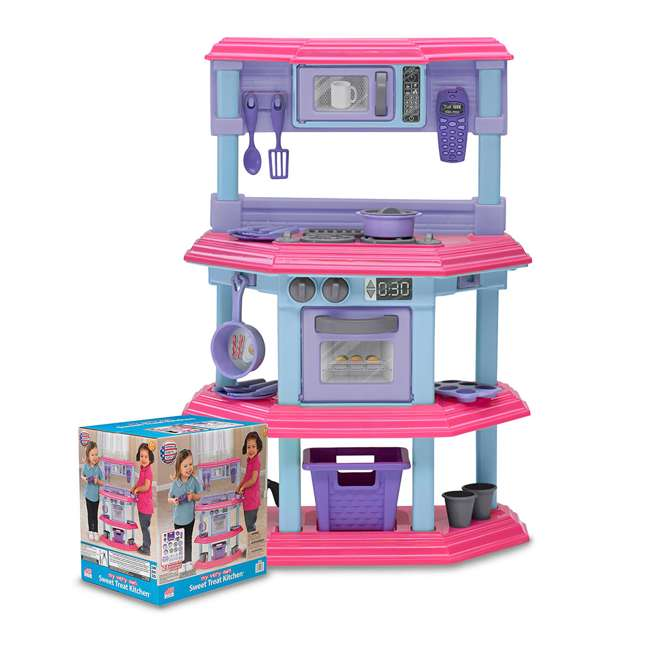APT-11660 American Plastic Toys 11660 Kid My Very Own Sweet Treat Pretend Play Kitchen Set