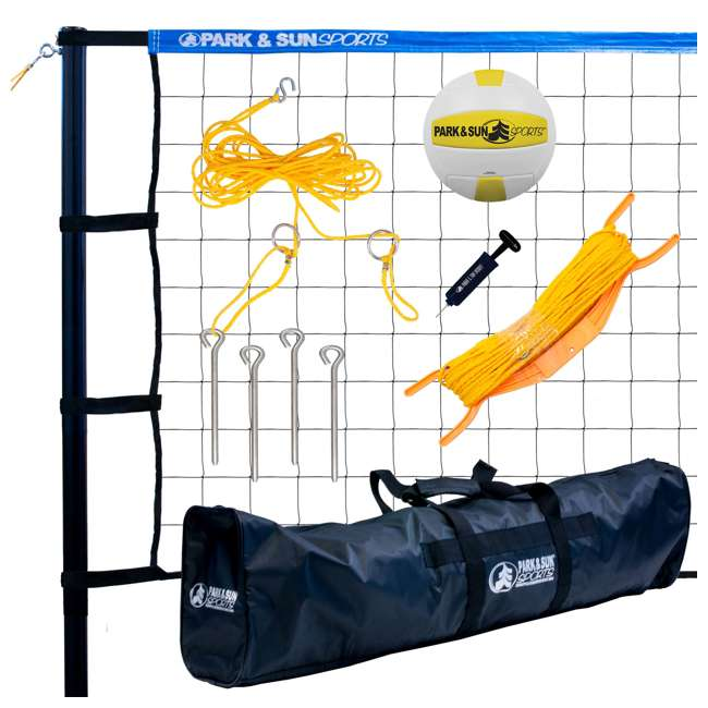 TP-179-BL-OB Park & Sun Sports Spectrum 179  Outdoor Volleyball Net Set (Open Box)