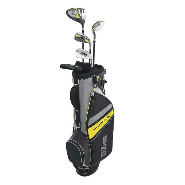 WGGC6122L Wilson Profile Complete Junior Left Hand Golf Set, Yellow