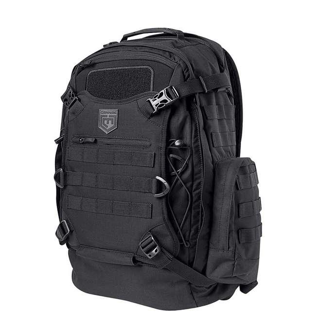 CPG-BP-PHAL-L-B Cannae Pro Gear Full Size 30L Duty Pack w Helmet Carry, Black