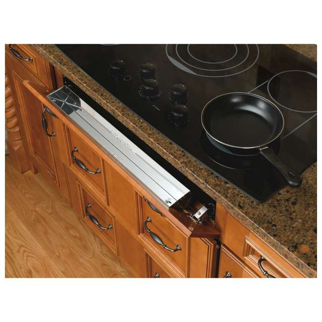 6541-25-52 Rev-A-Shelf 6541-25-52 25 Inch Stainless Steel Slim Tip Out Tray with Hinges 2