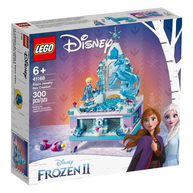 6251063 LEGO 41168 Frozen II Elsa's Jewelry Box Block Building Kit w/ 2 Minifigures 1