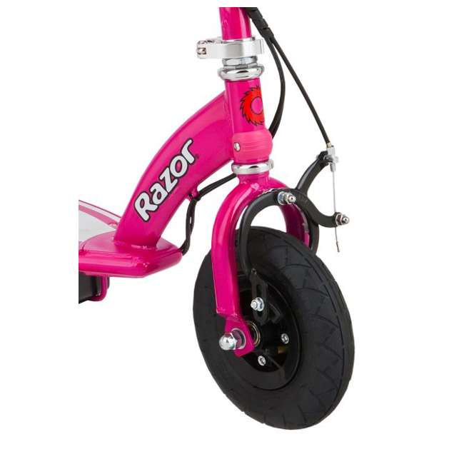 13111261 + 97783 Razor E100 24 Volt Motorized Electric Scooter, Pink and Safety Helmet, Pink 3