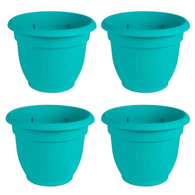 4 x AP1227 Bloem Ariana 12 Inch Self Watering Plastic Flowerpot Planter (4 Pack)