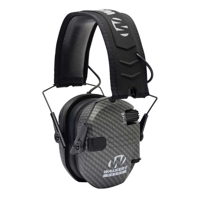 GWP-RSEM-CARB + GWP-REMSC Walker's Razor Hearing Protection Earmuff w/ Walker's Razor Ear Muff Case 1