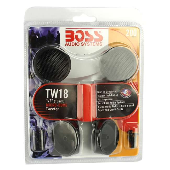 TW18-BOSS Boss TW18 .5-Inch 200W Micro Dome Tweeters Swivel/Surf/Angle Mount (Pair) 4