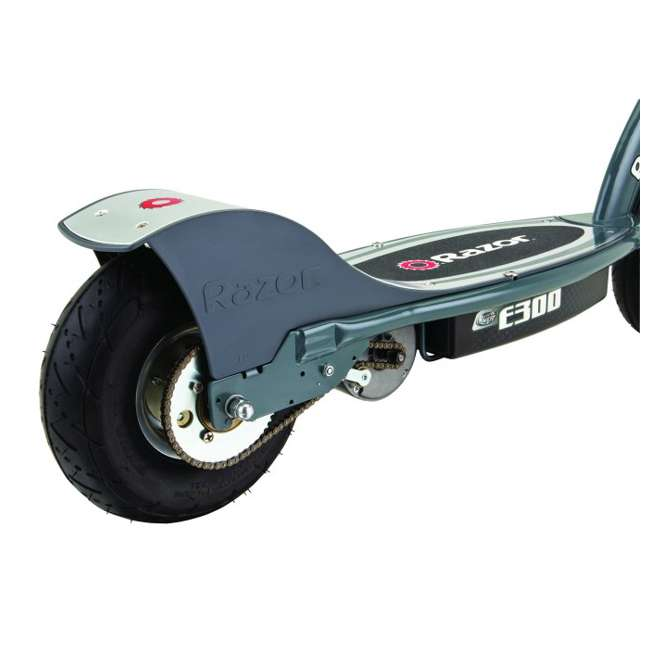 13113614 + 97778 + 96785 Razor E300 Electric Scooter (Grey) with Helmet, Elbow and Knee Pads 9