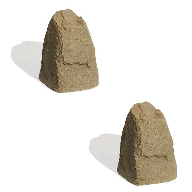 ALG-231 Algreen Rock Cover Decorative Garden Accent, Sandstone (2 Pack)