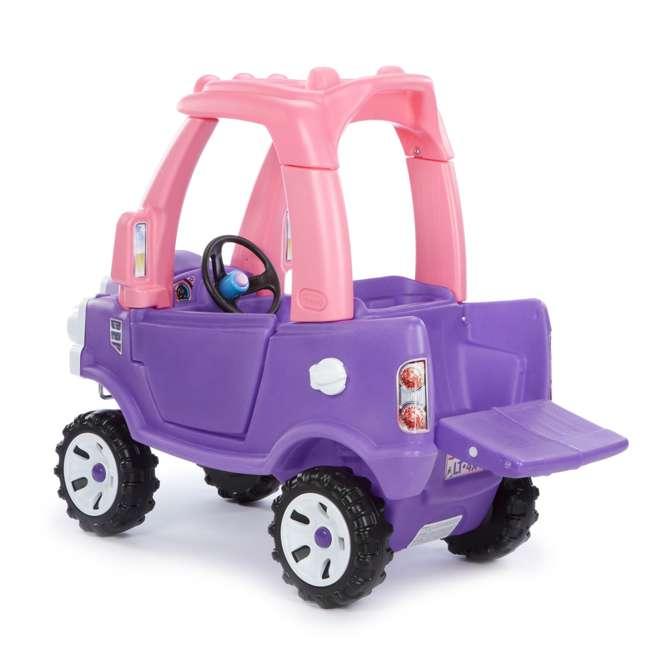642777M-U-A Little Tikes Pink and Purple Princess Cozy Kids Ride On Truck (Open Box) 3