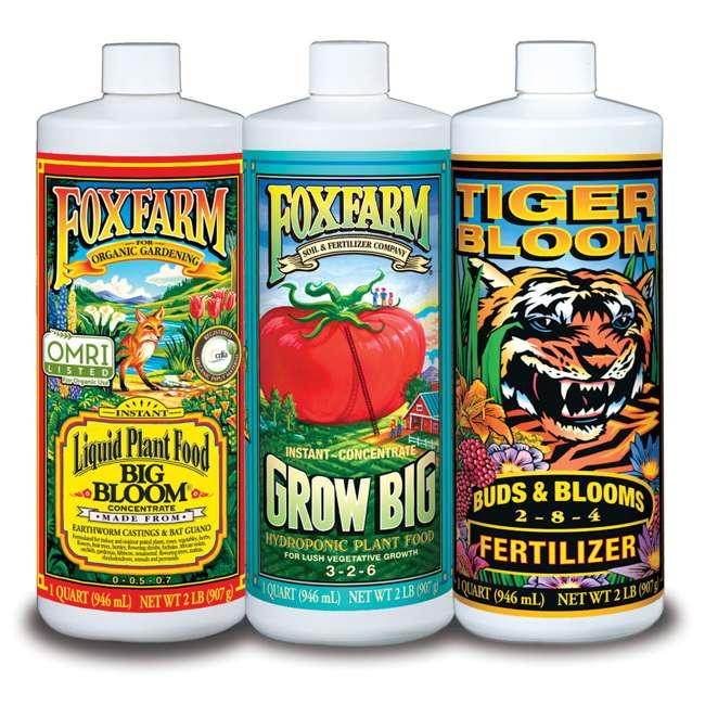 4 x FX14050 FoxFarm Hydro Formula Trio 3 Liquid Plant Fertilizers (4 Pack)  1