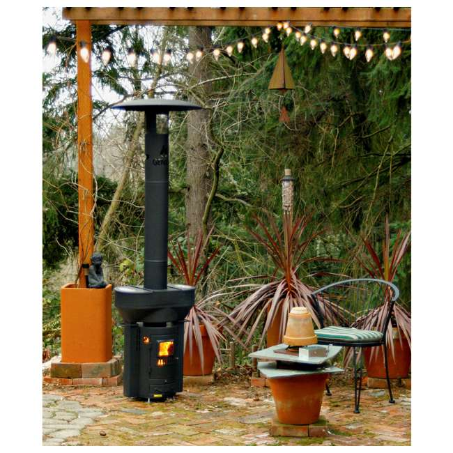 Q05 Q Stoves Q Flame Outdoor Heater Portable for Patio Camping Wood Pellets, Black 5