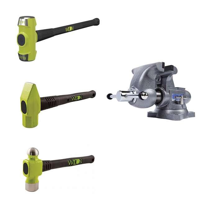 JPW-28807 + JPW-11111 Wilton Tradesman 1765 Bench Vise w/ 3 Piece Hammer Set
