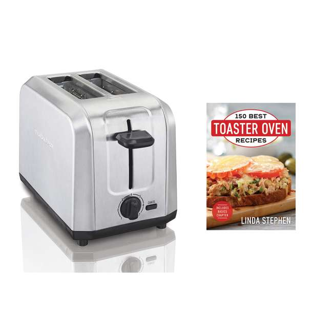 22910 + TOASTER150 Hamilton Beach Stainless Steel 2 Slice Toaster & 150 Best Toaster Recipe Book 1